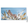 Tableau nu grand format gris marron moderne Flamme sensuelle