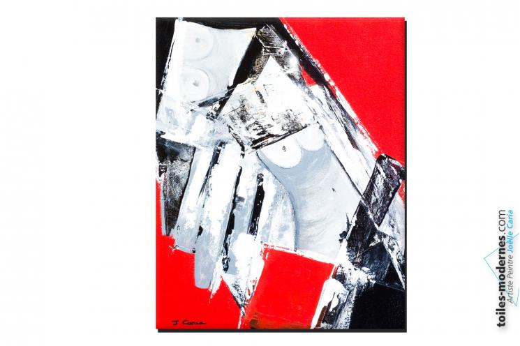 Tableau rouge et noir nu design City Love