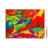 Tableau nu abstrait multicolore Femme allongée création contemporaine