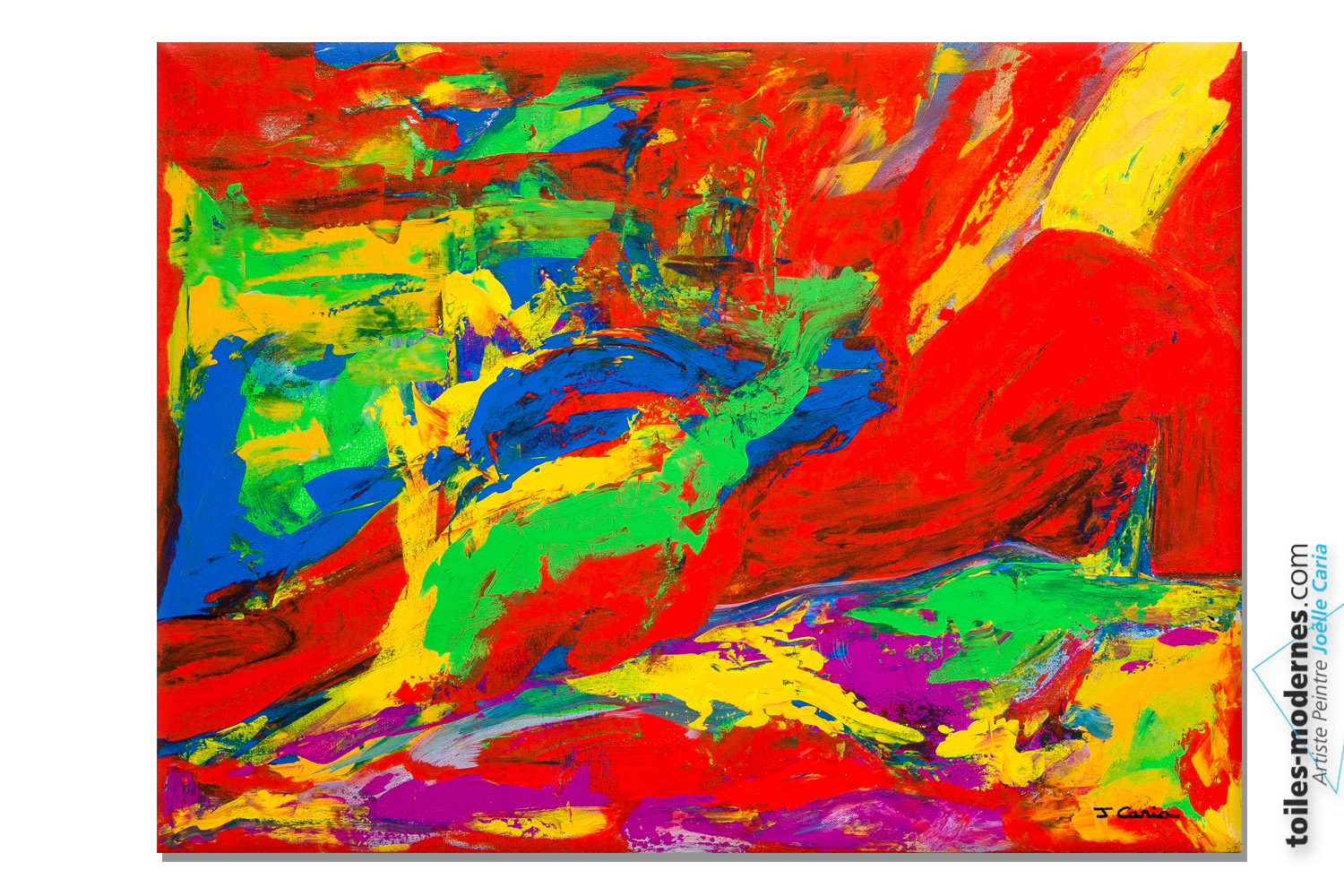Tableau nu abstrait color femme allong e - Tableau colore moderne ...