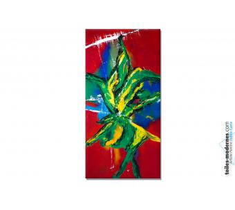 Tableau format spectaculaire  peinture colorée  Brasilia art contemporain
