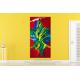 Grande toile XXL colorée Brasilia création contemporaine