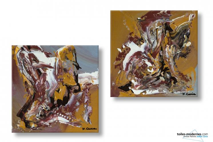 Tableaux marron création abstraite arbre de la liberté