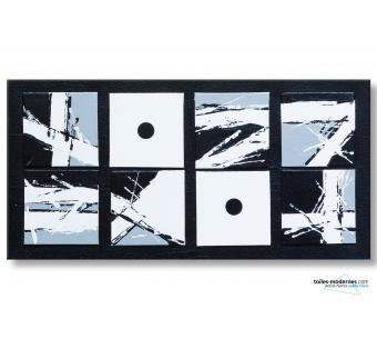 La sémiotique : tableau moderne noir et blanc