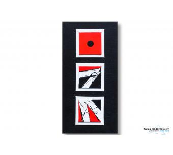Tableau rouge et noir design : Jeu de langage