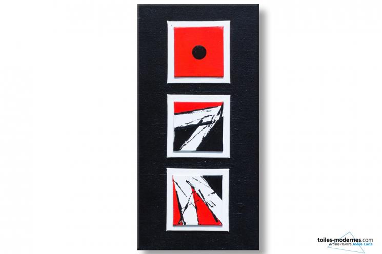 Déco rouge et noir design Jeu de langage