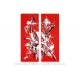 Tableau rouge éclatant  : Révélation, déco moderne