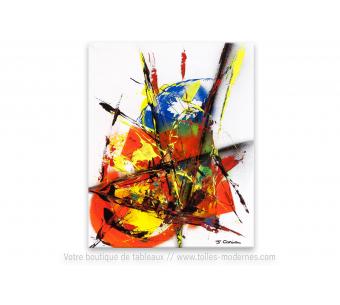 Création colorée fond blanc : une vie trépidante
