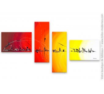 Tableau abstrait Un voyage coloré