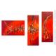 Tableau rouge triptyque contemporain Forte chaleur