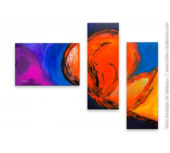 Tableau XXL moderne coloré : Fusion