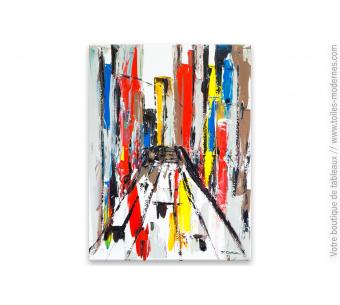 Tableau coloré thème ville : Park avenue