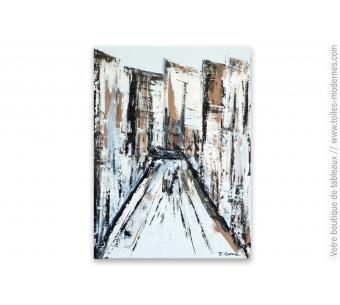 Tableau gris et marron décoratif : Brooklyn
