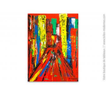 Tableau rouge moderne : New York