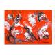 Peinture sur toile rouge décoratif : Hallucination