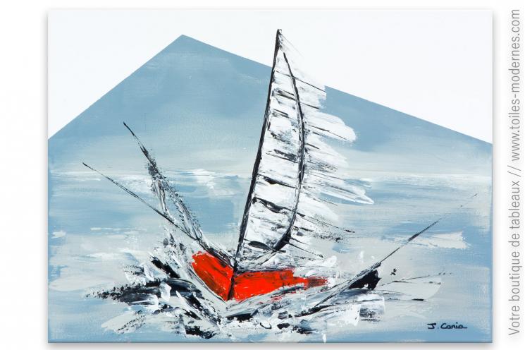Décoration thème marin Voilier rouge création moderne