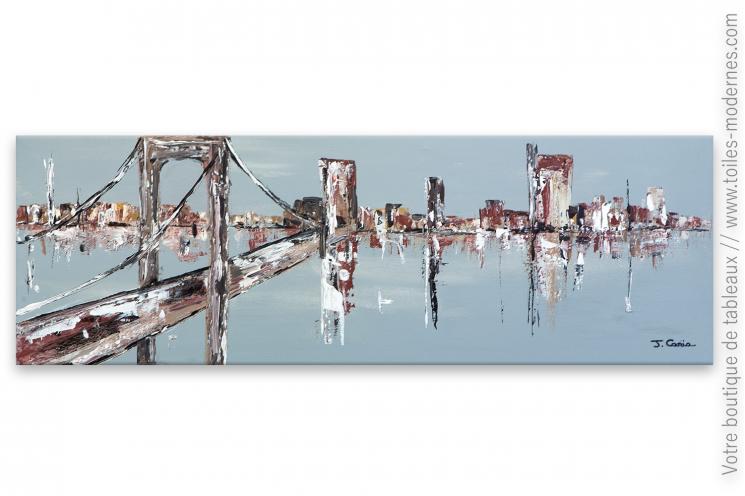 Déco urbaine et moderne, création unique : Le pont de Brooklyn