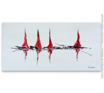 Déco design et chic ave un tableau panoramique gris thème marine: Sortie en mer