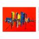 Grand tableau colorée à thème ville : Port de Copenhague
