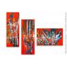 Déco design tableau triptyque coloré : Avenir