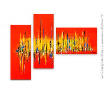 Tableau triptyque coloré : Décor éclatant