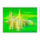 Déco vert anis avec un tableau moderne : Esprit clair