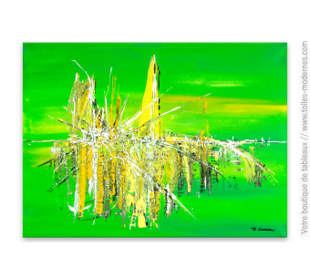 Tableau vert moderne : Esprit clair