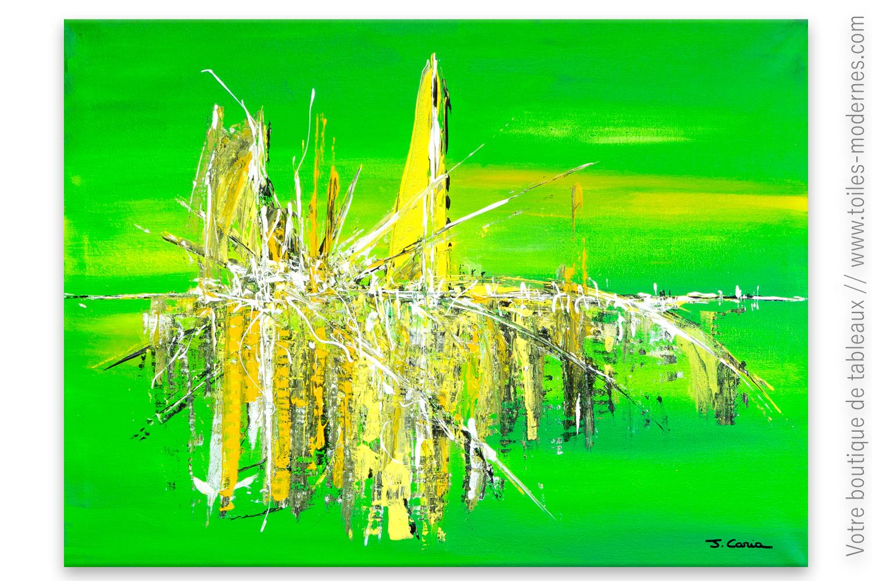Incroyable Déco Vert Anis Avec Un Tableau Moderne : Esprit Clair ...