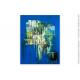 Déco objet bleu avec une tableau moderne : Fantaisie