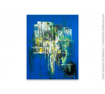 Tableau bleu contemporain Fantaisie