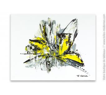 Tableau blanc abstrait : Attirance