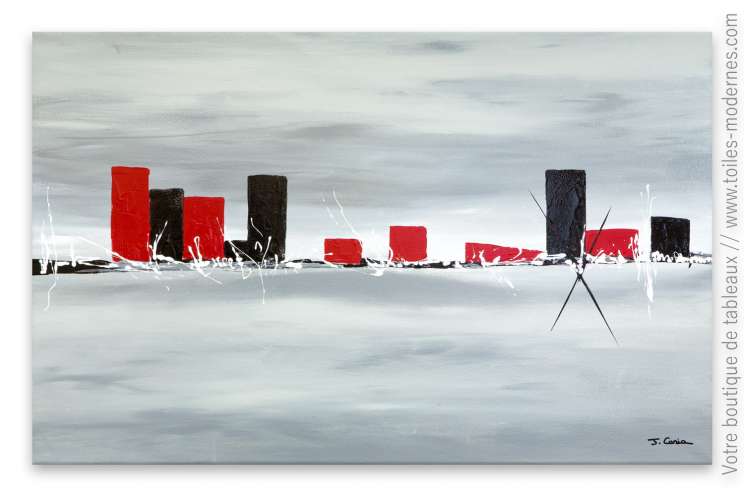 Déco design minimaliste avec un tableau gris moderne : Nouvelle approche