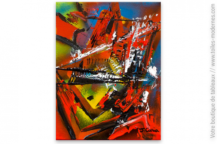 Déco murale colorée avec un tableau moderne : Atmosphère