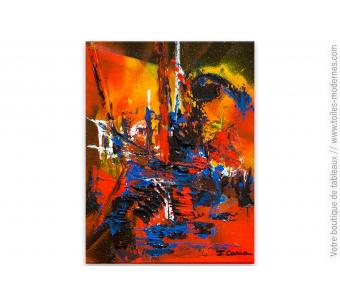Tableau coloré abstrait : Turbulence