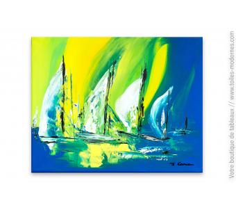 Tableau moderne thème la mer : Marina
