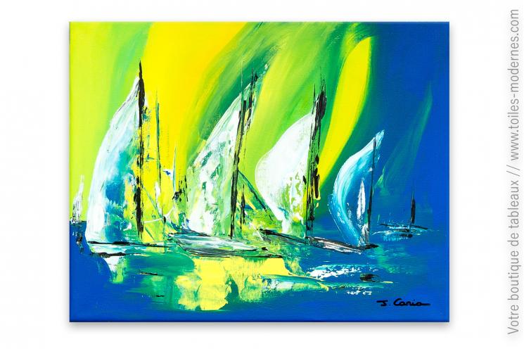 Déco marine tableau coloré moderne : Marina