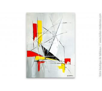Toile abstraite gris taupe : Improvisation