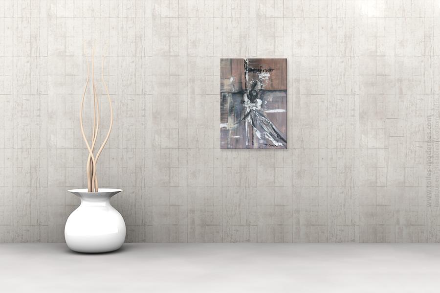 Tableau contemporain marron format portrait for Tableau moderne contemporain