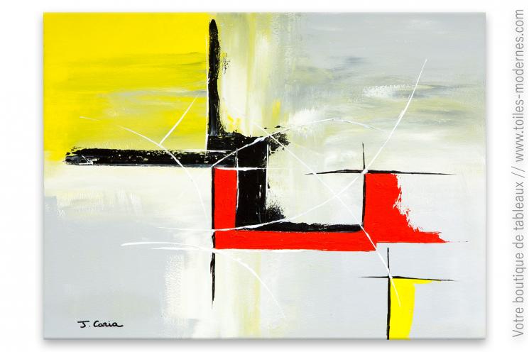 138 tableau gris et rouge tableau abstrait contemporain gris rouge peintures par paysages. Black Bedroom Furniture Sets. Home Design Ideas