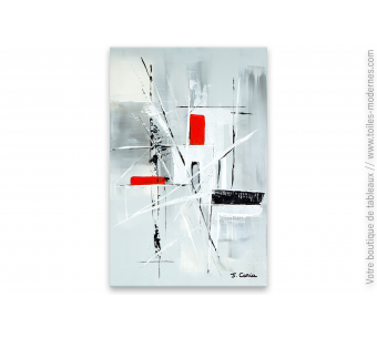 Tableau gris moderne : Subtile abstraction
