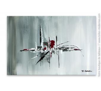 Tableau  gris abstrait : Matin d'hiver