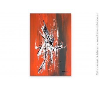 Tableau rouge brique moderne : Faune urbaine