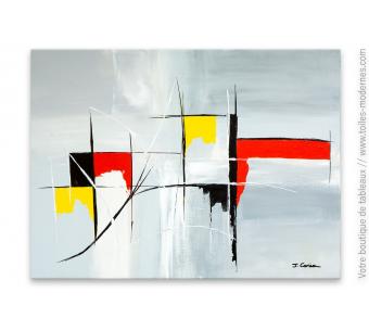Création art abstrait gris : Chimère