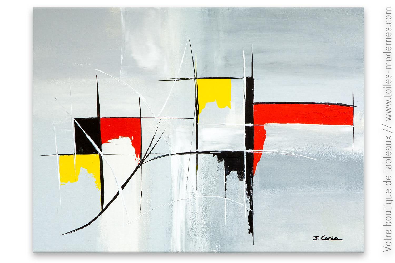 Creation Art Abstrait Gris Chimere