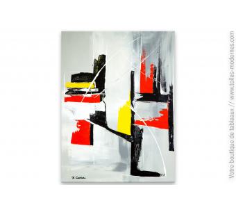 Tableau contemporain gris pour déco moderne : Idée fixe