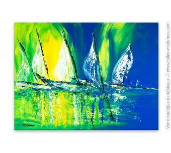Déco colorée moderne avec une tableau abstrait : Détroit de Béring