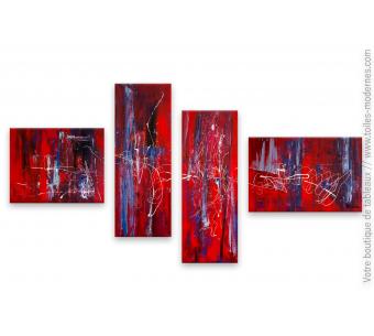 Tableau abstrait rouge : Ambiance décontractée
