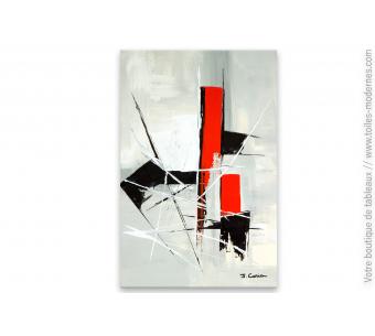 Toile abstraite en rouge et noir : Prévision