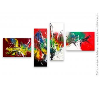 Décoration murale avec un grand tableau très coloré : Caprice d'un jour