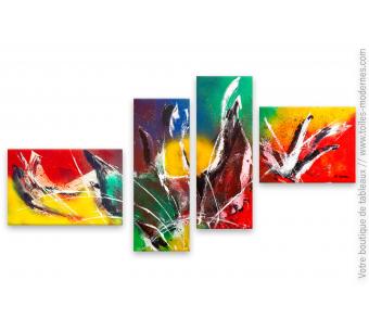 Création design colorée unique : Secousse